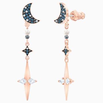 Boucles d'Oreilles « Ear-Jacket » Swarovski Symbolic, multicolore, Finition mix de métal - Swarovski, 5489533