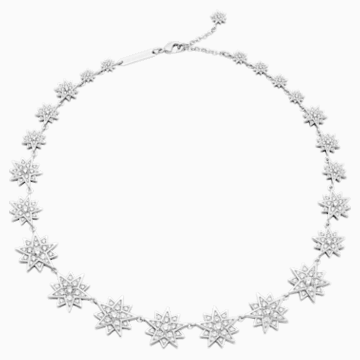Penélope Cruz Moonsun Necklace, Limited Edition, White, Rhodium plated - Swarovski, 5489764