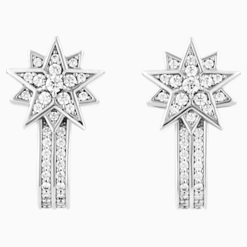 Penélope Cruz Moonsun Pierced Earring Jackets, Limited Edition, White, Rhodium plated - Swarovski, 5489771