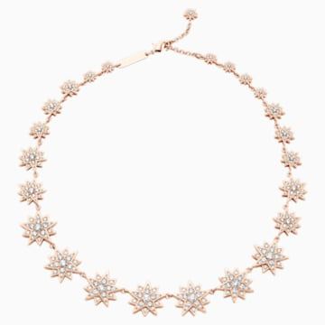 Penélope Cruz Moonsun 項鏈, 限量發行產品, 白色, 鍍玫瑰金色調 - Swarovski, 5489773