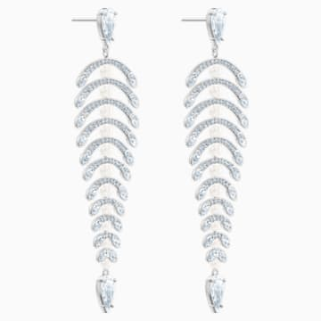 Boucles d'oreilles chandelier Polar Bestiary, blanc, Métal rhodié - Swarovski, 5489887