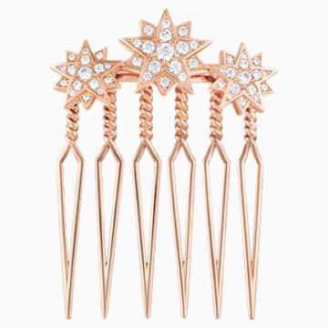 Penélope Cruz Moonsun Limited Edition Hair Pin, White, Rose gold plating - Swarovski, 5490106