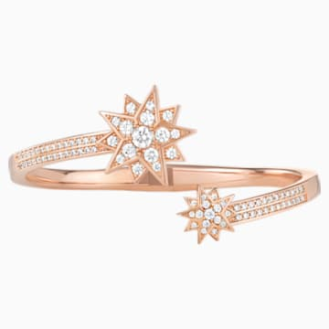 Penélope Cruz Moonsun Cuff, Limited Edition, White, Rose-gold tone plated - Swarovski, 5490109