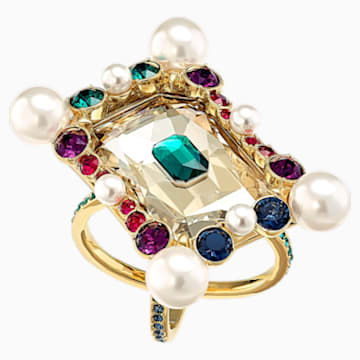 Vintage Opulescence Cocktail Ring, Multi-coloured, Gold-tone plated - Swarovski, 5490225
