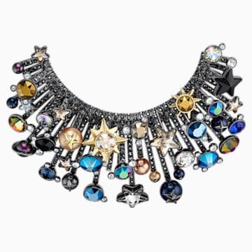 Nocturnal Sky 胸針, 多色設計, 多種金屬潤飾 - Swarovski, 5490236