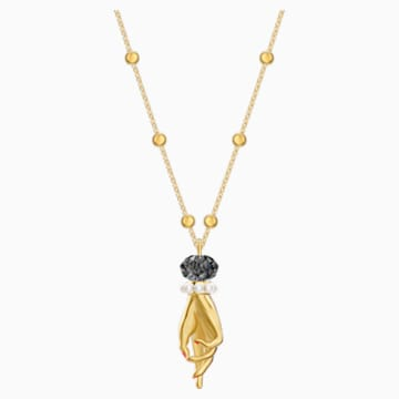 Tarot Magic Pendant, Grey, Gold-tone plated - Swarovski, 5490909