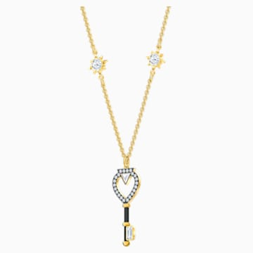 Tarot Magic Necklace, White, Gold-tone plated - Swarovski, 5490917