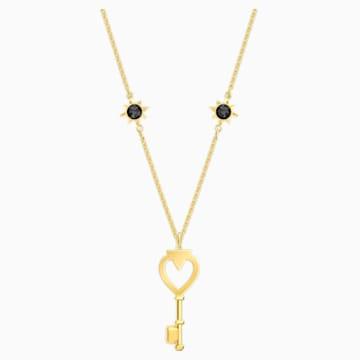 Tarot Magic 项链, 白色, 镀金色调 - Swarovski, 5490917