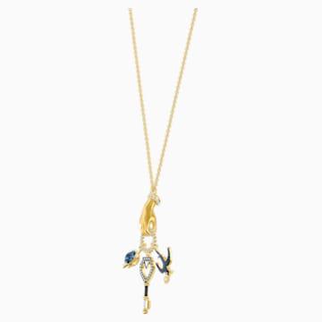Tarot Magic Charm Pendant, Multi-colored, Gold-tone plated - Swarovski, 5490921