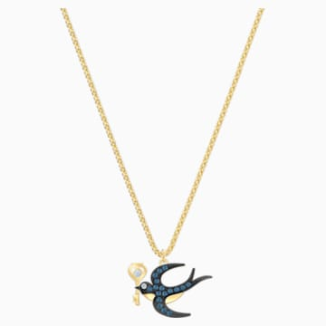 Tarot Magic Necklace, Blue, Gold-tone plated - Swarovski, 5490922