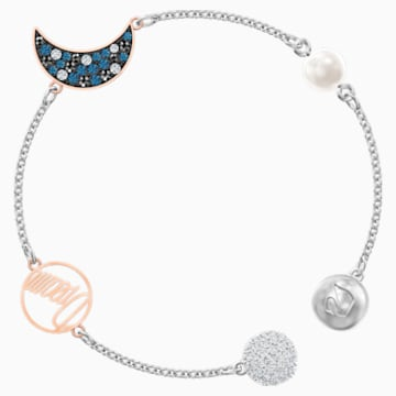Swarovski Remix Collection Moon Strand, Multi-colored, Mixed metal finish - Swarovski, 5490934