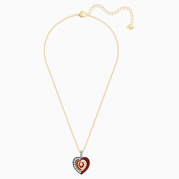 Black Baroque Pendant, Red, Gold-tone plated - Swarovski, 5490980