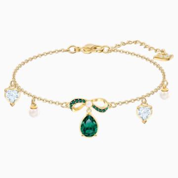 Black Baroque Bracelet, Multi-colored, Gold-tone plated - Swarovski, 5490981
