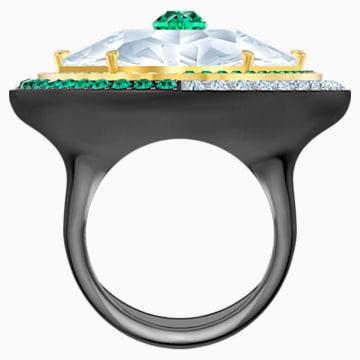 Black Baroque Cocktail Ring, White, Mixed metal finish - Swarovski, 5490984