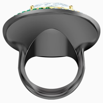 Black Baroque 鸡尾酒戒指, 白色, 多种金属润饰 - Swarovski, 5490984