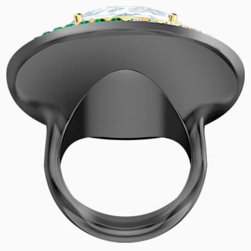 Black Baroque Cocktail 戒指, 白色, 多種金屬潤飾 - Swarovski, 5490984