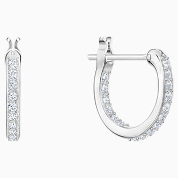 Polar Hoop Pierced Earrings, Multi-colored, Rhodium plated - Swarovski, 5491550