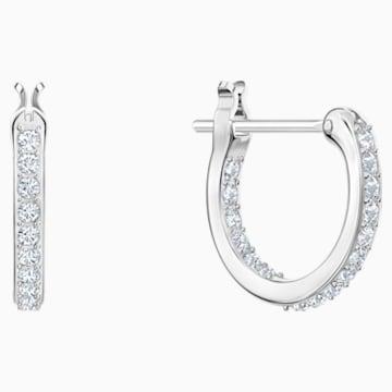 Polar Hoop Pierced Earrings, Multi-coloured, Rhodium plated - Swarovski, 5491550