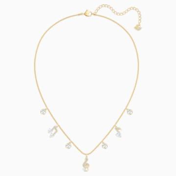 Collana Pleasant, bianco, Placcato oro - Swarovski, 5491655