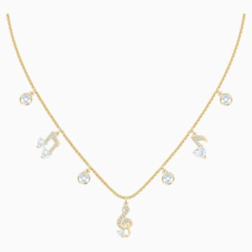 Pleasant Necklace, White, Gold-tone plated - Swarovski, 5491655