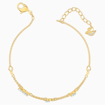 Pleasant Bracelet, White, Gold-tone plated - Swarovski, 5491658