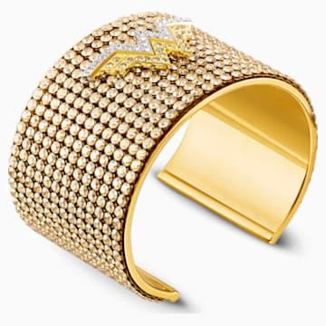 Fit Wonder Woman Браслет-кафф, Оттенок золота Кристалл, Отделка из разных металлов - Swarovski, 5492145