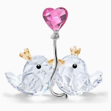 Porumbei, inimă roz - Swarovski, 5492226