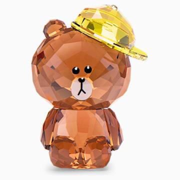 Line Friends布朗熊造型仿水晶卡通装饰品 - Swarovski, 5492743