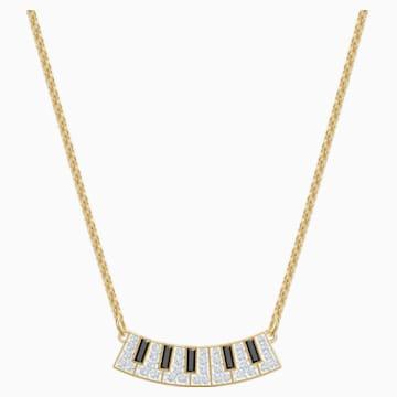 Pleasant Piano 项链, 彩色设计, 镀金色调 - Swarovski, 5493366