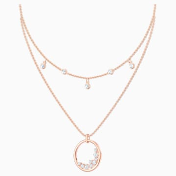 North Necklace, White, Rose-gold tone plated - Swarovski, 5493390