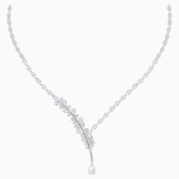 Nice 项链, 白色, 镀铑 - Swarovski, 5493401