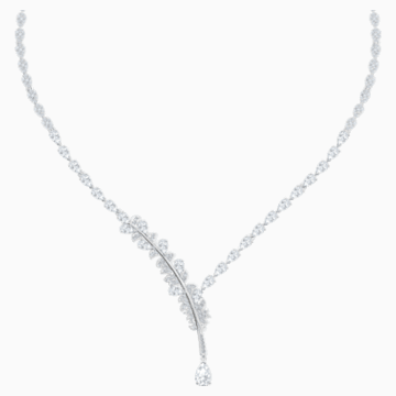 Nice Necklace, White, Rhodium plated - Swarovski, 5493401