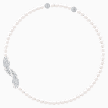 Collana Nice, bianco, Placcatura rodio - Swarovski, 5493403