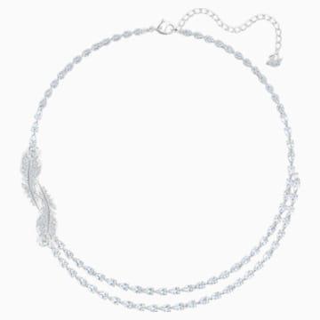 Collar Nice, blanco, Baño de Rodio - Swarovski, 5493404