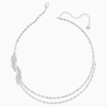 Collier Nice, blanc, Métal rhodié - Swarovski, 5493404