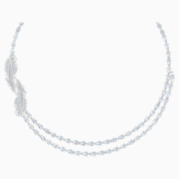 Nice 項鏈, 白色, 鍍白金色 - Swarovski, 5493404