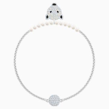 Polar Bestiary Bracelet, White, Rhodium plated - Swarovski, 5493706