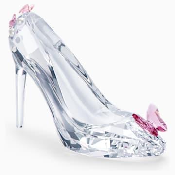 玫红色蝴蝶高跟鞋造型仿水晶摆件 - Swarovski, 5493714