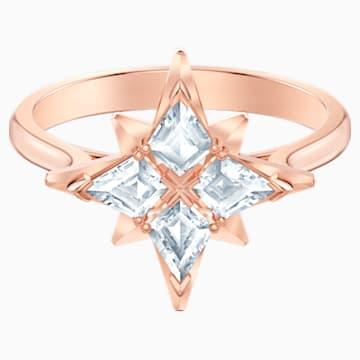 Anillo con motivo Swarovski Symbolic Star, blanco, Baño en tono Oro Rosa - Swarovski, 5494346