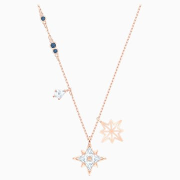 Přívěsek s hvězdou Swarovski Star, Bílý, Pozlacený růžovým zlatem - Swarovski, 5494352