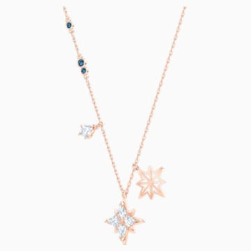 Swarovski Symbolic Star 链坠, 白色, 镀玫瑰金色调 - Swarovski, 5494352