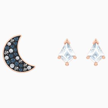 Swarovski Symbolic 穿孔耳环套装, 彩色设计, 镀玫瑰金色调 - Swarovski, 5494353