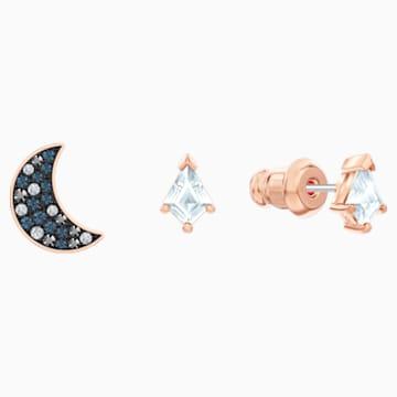 Swarovski Symbolic Pierced Earrings set, Multi-coloured, Rose-gold tone plated - Swarovski, 5494353