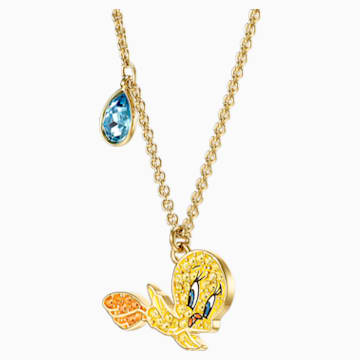 Looney Tunes Tweety Pendant, Multi-colored, Gold-tone plated - Swarovski, 5494374