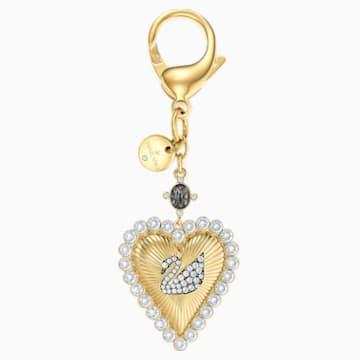 Accessorio per borse Vintage Swan, bianco, Placcato oro - Swarovski, 5494435