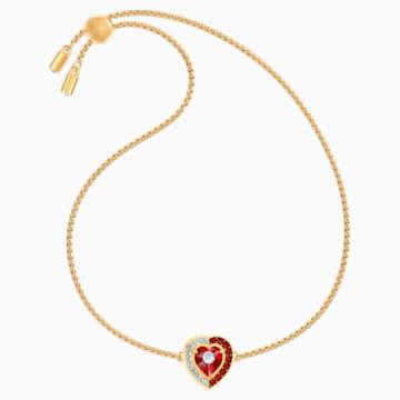 Black Baroque Bracelet, Red, Gold-tone plated - Swarovski, 5494500