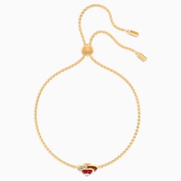 Pulsera Black Baroque, rojo, Baño en tono Oro - Swarovski, 5494500