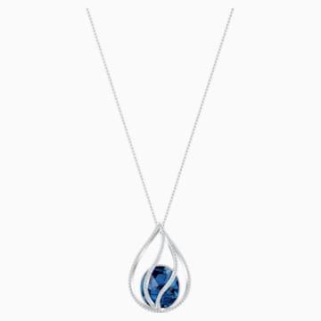 Energic Necklace, Blue, Rhodium plated - Swarovski, 5494874
