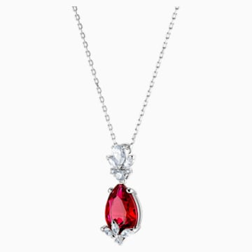 Louison Pendant, Red, Rhodium plated - Swarovski, 5495077