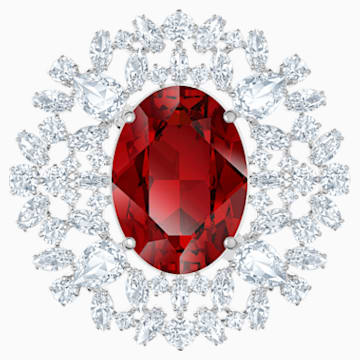 Broche Louison, rouge, Métal rhodié - Swarovski, 5495263